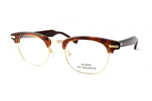 """SHURON シュロン """"NUSIR BOUQUET Taper Temple"""" Col.Tortoise ¥19,440- [without tax ¥18,000-]"""