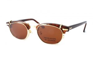 "SHURON シュロン ""RONSIR REVELATION Clip-On"" Col.Gold / Brown : Polarized ¥16,200- [without tax ¥15,000-]"