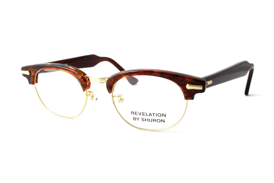 "SHURON シュロン ""RONSIR REVELATION Taper Temple"" Col.Tortoise ¥19,440- [without tax ¥18,000-]"