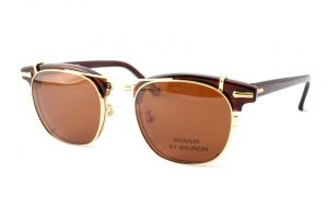 "SHURON シュロン ""RONSIR ZYL Clip-On"" Col.Gold / Brown : Polarized ¥16,200- [without tax ¥15,000-]"