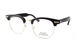 """SHURON シュロン """"RONSIR ZYL Taper Temple"""" Col.Ebony ¥19,440- [without tax ¥18,000-]"""