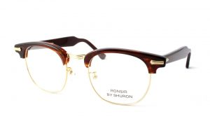 "SHURON シュロン ""RONSIR ZYL Taper Temple"" Col.Tortoise ¥19,440- [without tax ¥18,000-]"